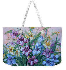 Gladiolus Weekender Tote Bag by Natalie Holland