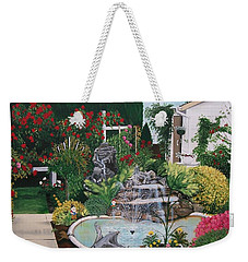 Weekender Tote Bag featuring the painting Gladys Serenity by Sharon Duguay