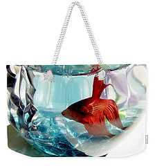 Weekender Tote Bag featuring the photograph Glamor Rudy by Valerie Reeves