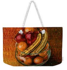 Glass Bowl Of Fruit Weekender Tote Bag