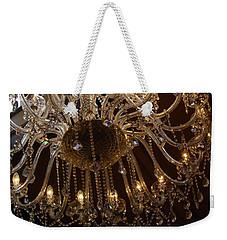 Weekender Tote Bag featuring the photograph Glass Chandelier by Jocelyn Friis