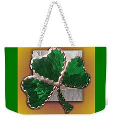 Glass Shamrock Weekender Tote Bag