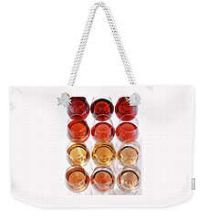 Glasses Of Rose Wine Weekender Tote Bag by Romulo Yanes