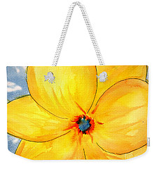 Weekender Tote Bag featuring the painting Glicee Cyan-a-floral by Clayton Bruster