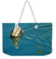 Weekender Tote Bag featuring the photograph Gliding by Clare Bevan