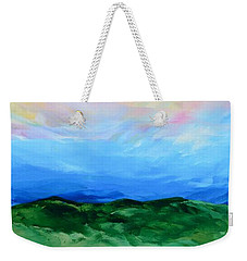 Weekender Tote Bag featuring the painting Glimpse Of The Splendor by Linda Bailey