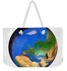 Globe 3d Map World Weekender Tote Bag