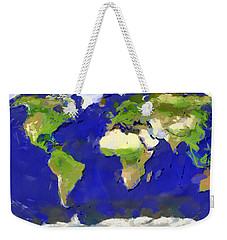 Global Map Painting Weekender Tote Bag