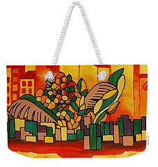 Weekender Tote Bag featuring the painting Global Warning by Barbara St Jean