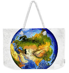 Globe World Map Weekender Tote Bag