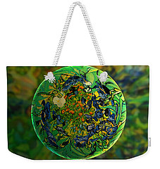 Globing Earth Irises Weekender Tote Bag by Robin Moline