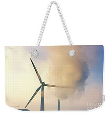 Gloomy Industrial View. Weekender Tote Bag