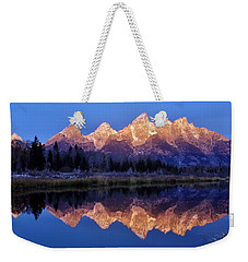 Weekender Tote Bag featuring the photograph Glorious Morning Panorama by Benjamin Yeager