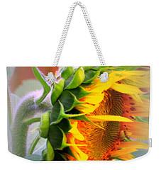 Glorious Sunflower Weekender Tote Bag by Kay Novy