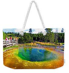 Glory Pool Yellowstone National Park Weekender Tote Bag by Ausra Huntington nee Paulauskaite