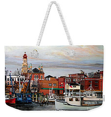 Gloucester Harbor Weekender Tote Bag by Eileen Patten Oliver