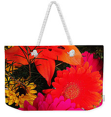 Weekender Tote Bag featuring the photograph Glowing Bright by Meghan at FireBonnet Art