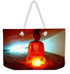 Glowing Buddha Weekender Tote Bag