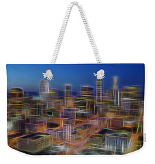 Glowing City Weekender Tote Bag by Kelley King