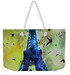 Glowing Eiffel Tower Weekender Tote Bag