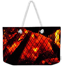 Glowing Embers Weekender Tote Bag by Darren Robinson