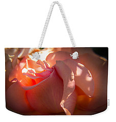 Weekender Tote Bag featuring the photograph Glowing Heart by Patricia Babbitt