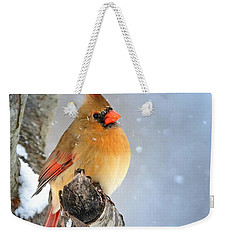 Glowing In The Snow Weekender Tote Bag