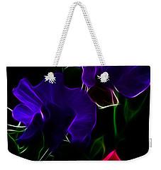 Glowing Sweet Peas Weekender Tote Bag