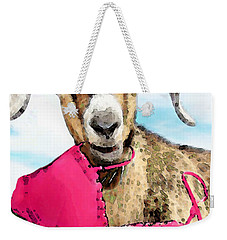 Goat Art - Oh You're Home Weekender Tote Bag by Sharon Cummings