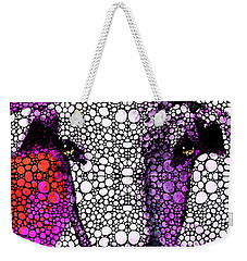 Goat - Pinky - Stone Rock'd Art By Sharon Cummings Weekender Tote Bag by Sharon Cummings