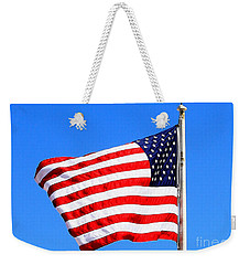 Weekender Tote Bag featuring the photograph God Bless America by Judy Palkimas