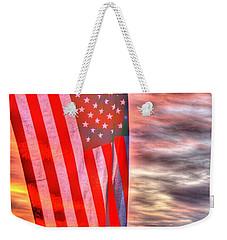 God Bless America Over Puget Sound Weekender Tote Bag