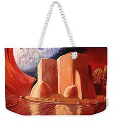 God Is In The Moon Weekender Tote Bag by Art James West