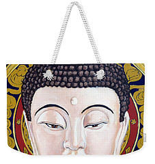 Weekender Tote Bag featuring the painting Goddess Tara by Tom Roderick
