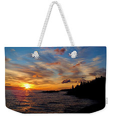 Weekender Tote Bag featuring the photograph God's Morning Painting by Bonfire Photography