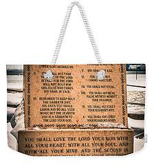 God's Ten Commandments Weekender Tote Bag