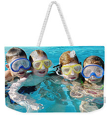 Weekender Tote Bag featuring the photograph Goggle Eyed Quartet by David Nicholls