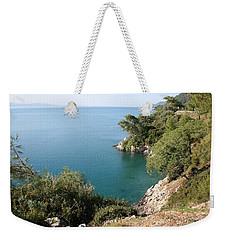Weekender Tote Bag featuring the photograph Gokova Korfezi Akyaka by Tracey Harrington-Simpson