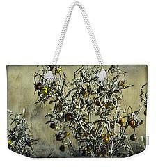 Gold And Gray - Silver Nightshade Weekender Tote Bag