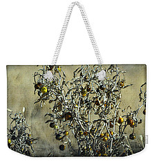 Gold And Gray - Silver Nightshade Weekender Tote Bag
