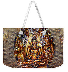 Gold Buddha Weekender Tote Bag
