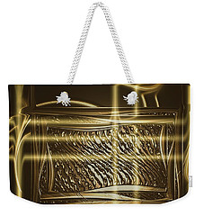 Gold Chrome Abstract Weekender Tote Bag