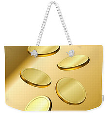 Gold Coins Weekender Tote Bag by Cyril Maza
