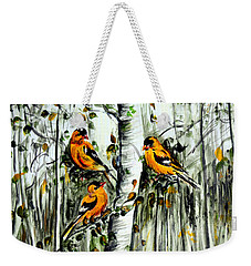 Gold Finches Weekender Tote Bag