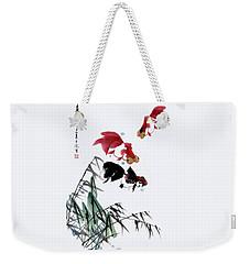 Gold Fish Weekender Tote Bag