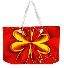 Gold Flowers Weekender Tote Bag