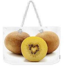 Gold Kiwifruit Weekender Tote Bag by Fabrizio Troiani