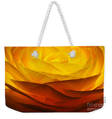 Weekender Tote Bag featuring the photograph Gold Ranunculus Flower by Kristen Fox