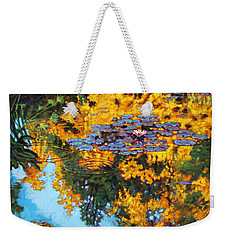 Gold Reflections Weekender Tote Bag