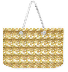 Weekender Tote Bag featuring the photograph Gold Sparkle Tone Pattern Unique Graphics by Navin Joshi